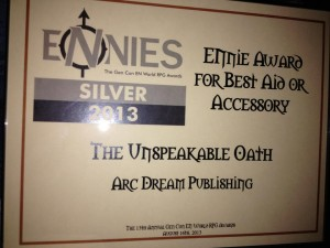 Unspeakable Oath Ennie Award 2013