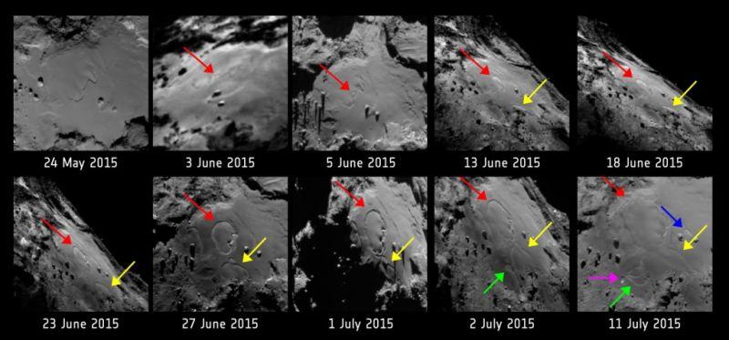 rosetta comet shift