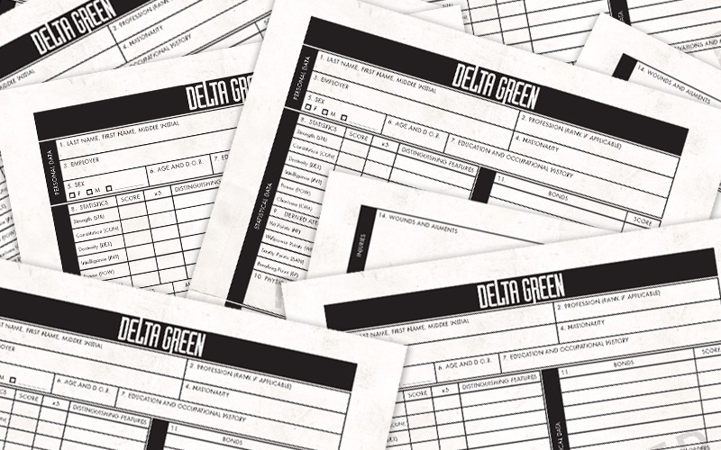Delta Green » UPDATED: 960 Pre-generated Characters for Your Delta